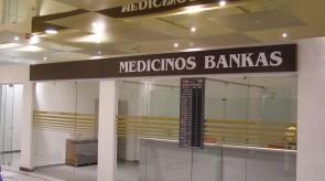 Medicinos banko iškaba Gedimino 9