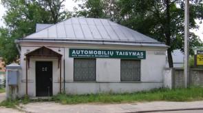 Automobilių dirbtuvių reklaminis skydas