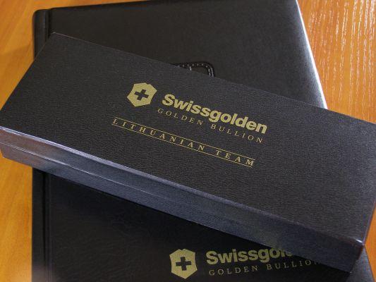 Šilkografinis logotipas ant odinės dėžutės