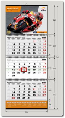 3-ų dalių kalendorius